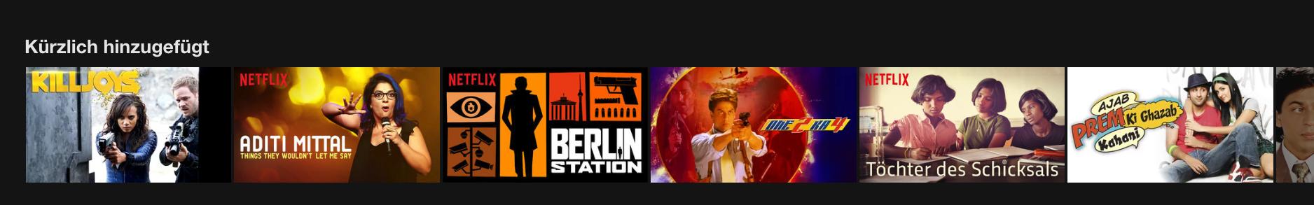 Netflix neuerscheinungen august