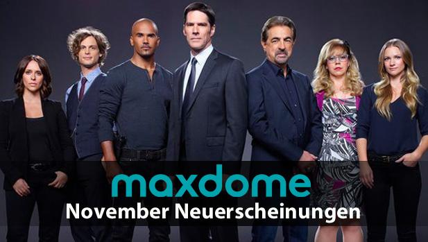 Maxdome: Neuheiten im November 2017