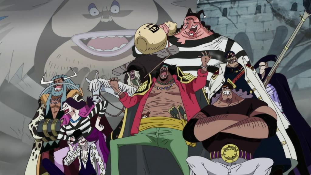 black beard crew one piece
