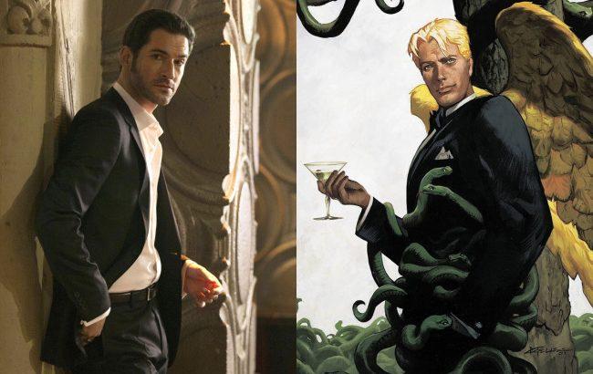 Lucifer Comic VS Serie