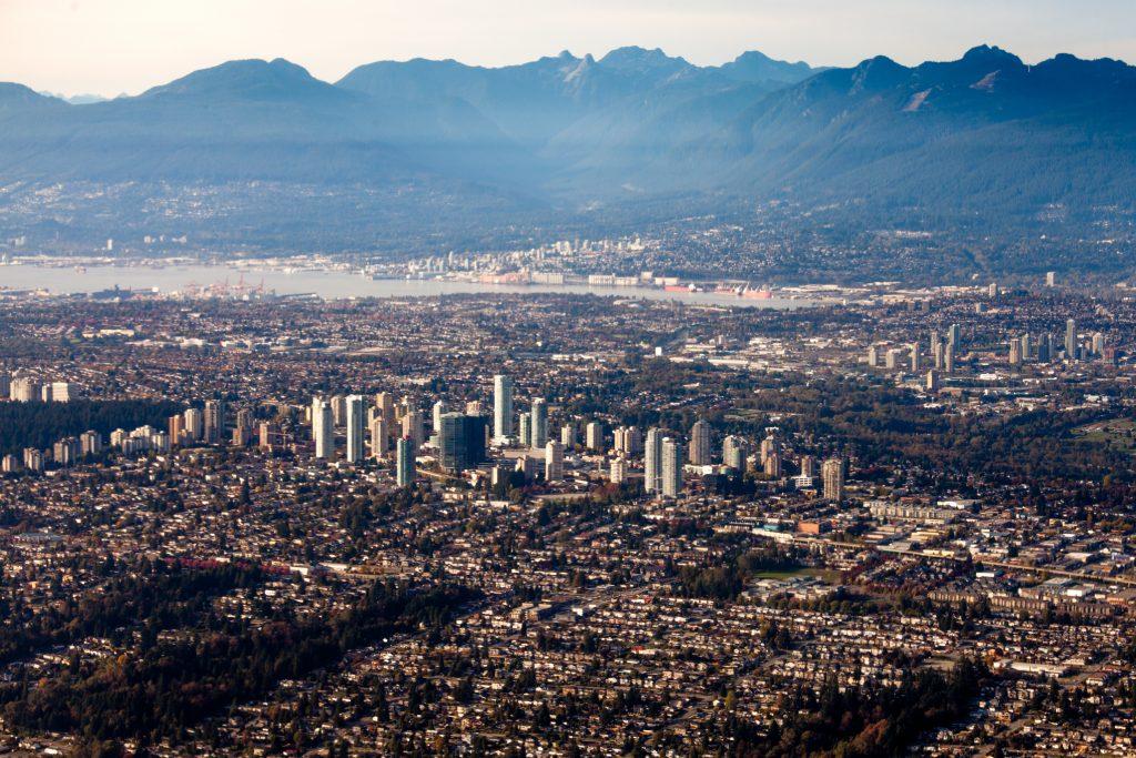 Rivderdale Vogelperspektive Riverdale von oben Vancouver