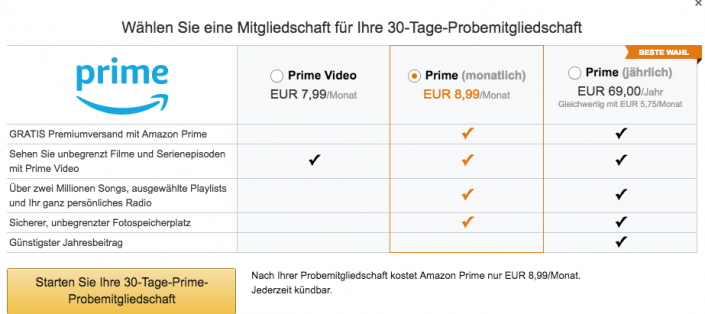 Amazon Video Preis